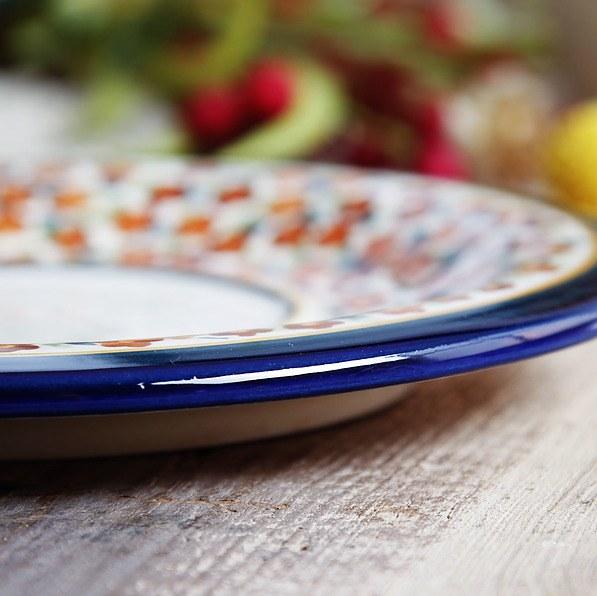 Bunzlauer Keramik TELLER 19,5 cm Platzteller Untertasse Speiseteller Essteller