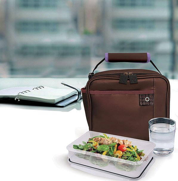 Torba na lunch IRIS MINI LUNCH BAG BRĄZOWA