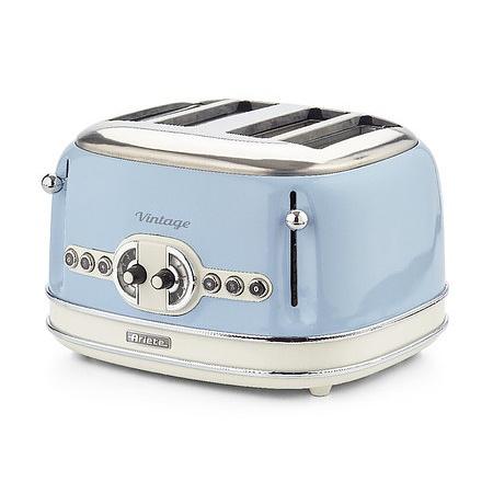 ARIETE Vintage 1600 W niebieski - toster / opiekacz do kanapek elektryczny stalowy