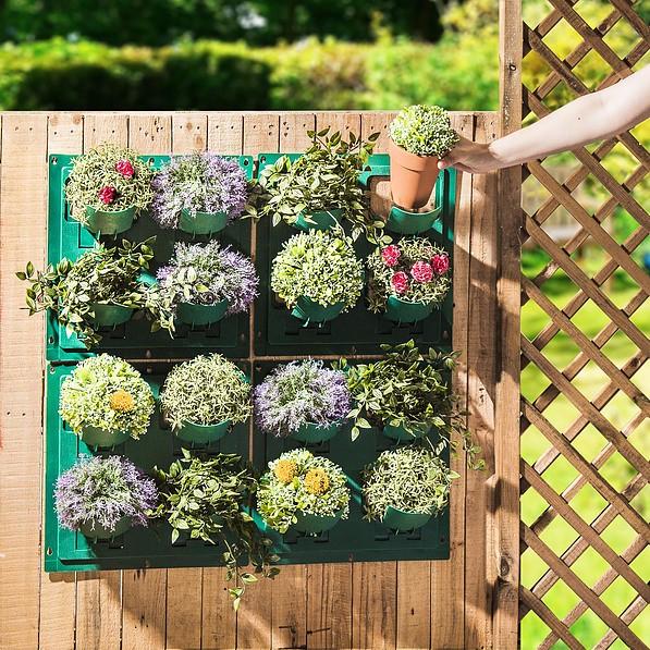 Wieszaki Na Doniczki Plastikowe Garden Flowers Zielone 4 Szt
