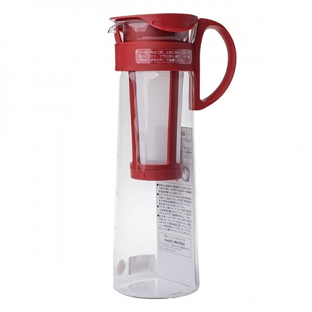 Zaparzacz do kawy na zimno HARIO MIZUDASHI COFFEE POT RED 1 l