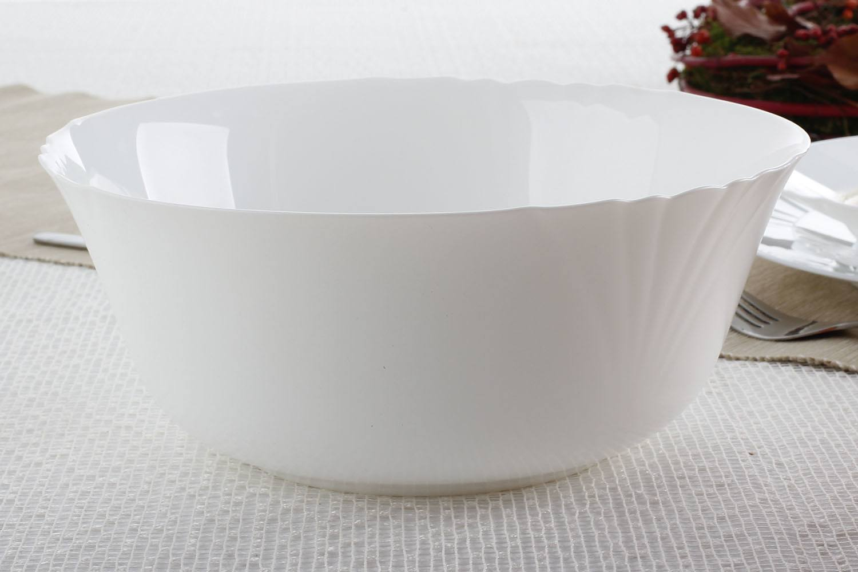 Serwis Obiadowy Szklany Luminarc Cadix Biały Na 6 Osób 19 El