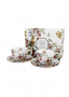 Filiżanki do kawy i herbaty porcelanowe ze spodkami DUO ART GALLERY VINTAGE FLOWERS WHITE 280 ml 2 szt.