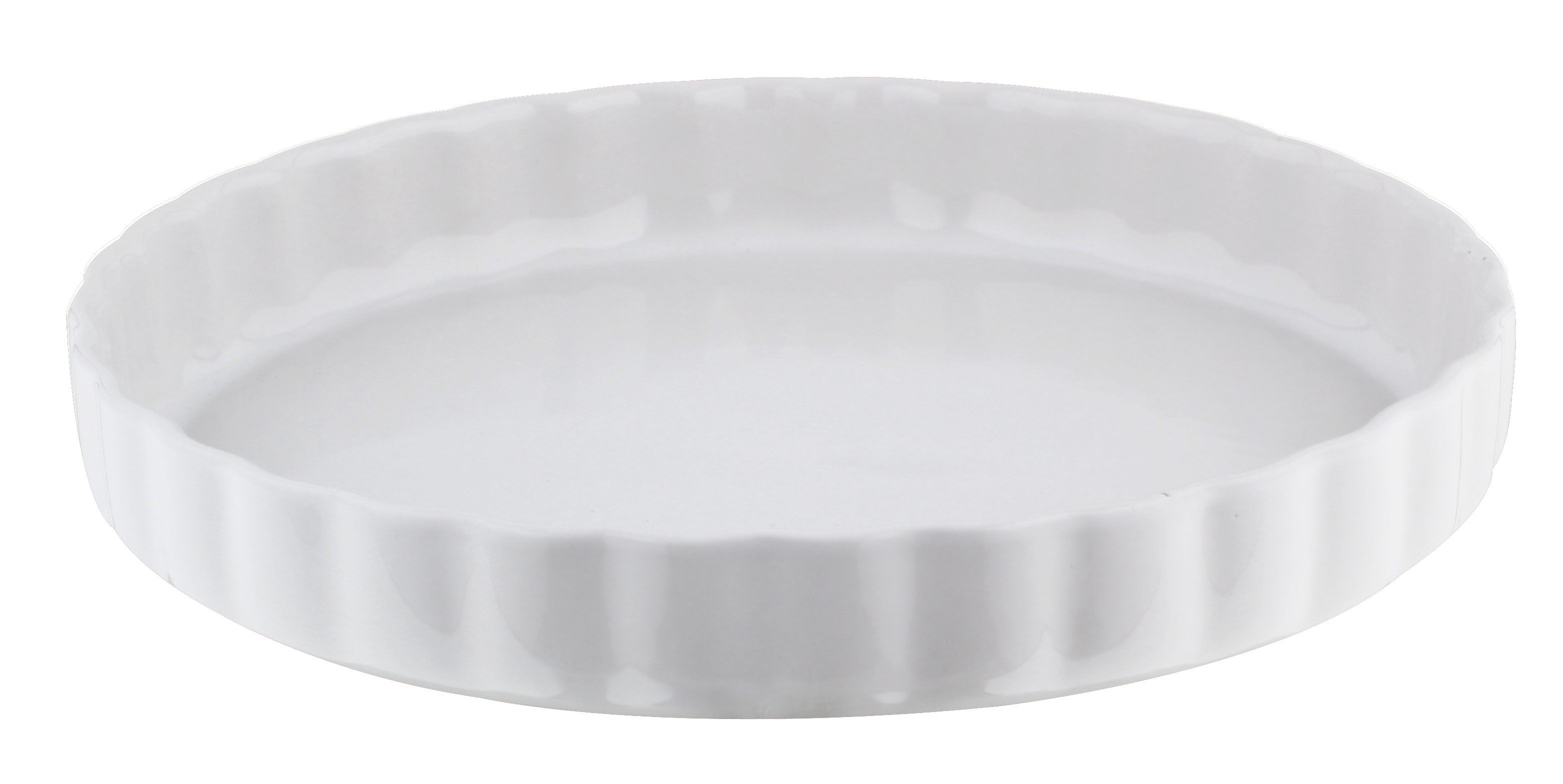 ca 29 cm rund Quiche-Form Keramik wei/ß