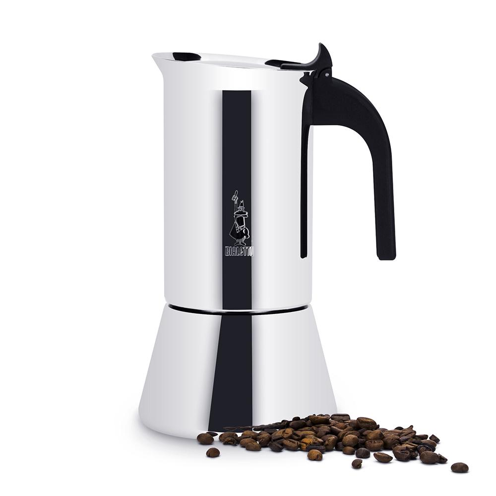 BIALETTI EDELSTAHL ESPRESSOKOCHER für 6 Tassen Induktion Espresso Maker VENUS