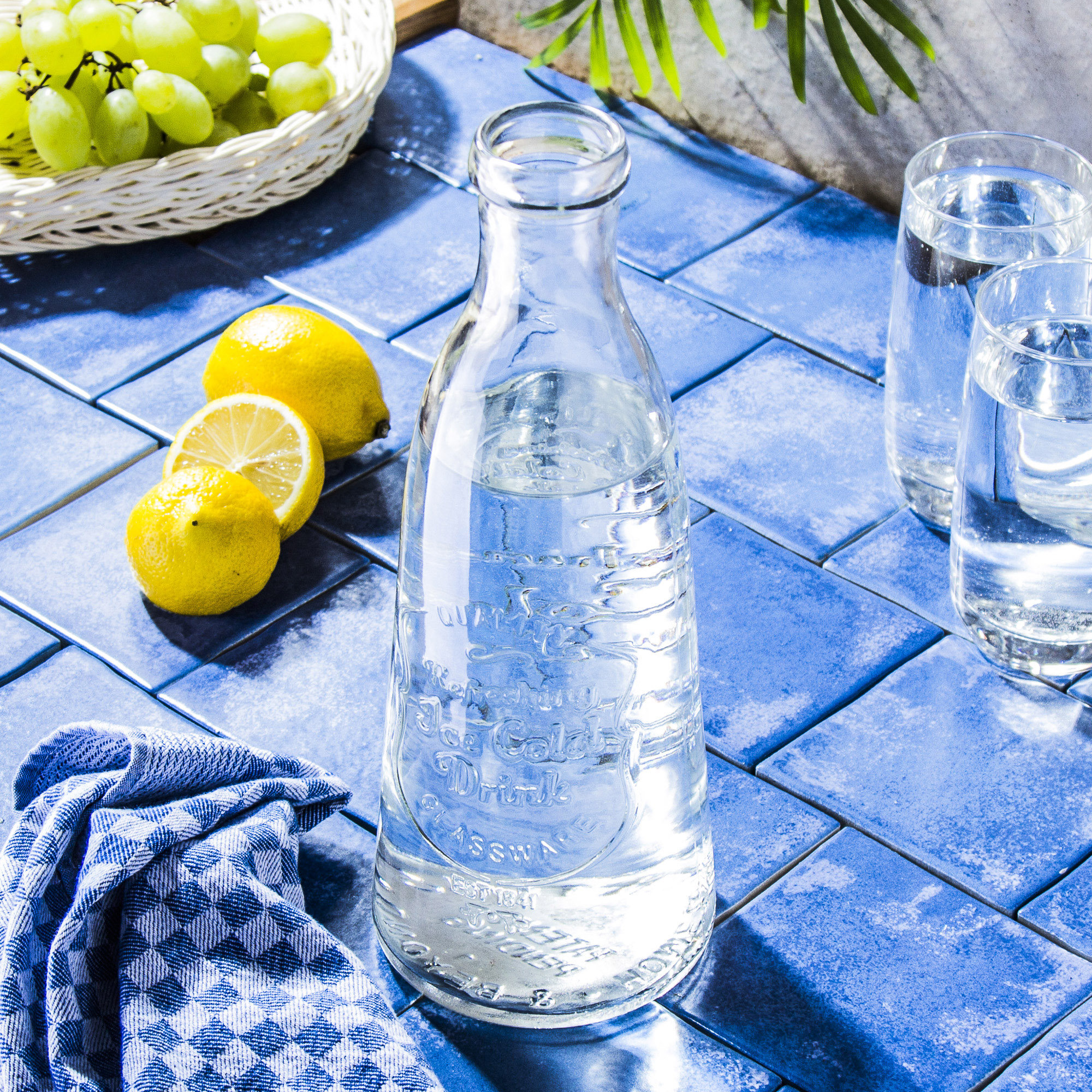 Butelka szklana ICE COLD DRINK 1 l