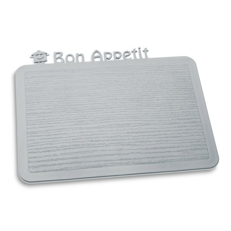 Deska do krojenia plastikowa KOZIOL HAPPY BOARDS BON APPETIT SZARA 25 x 19,8 cm