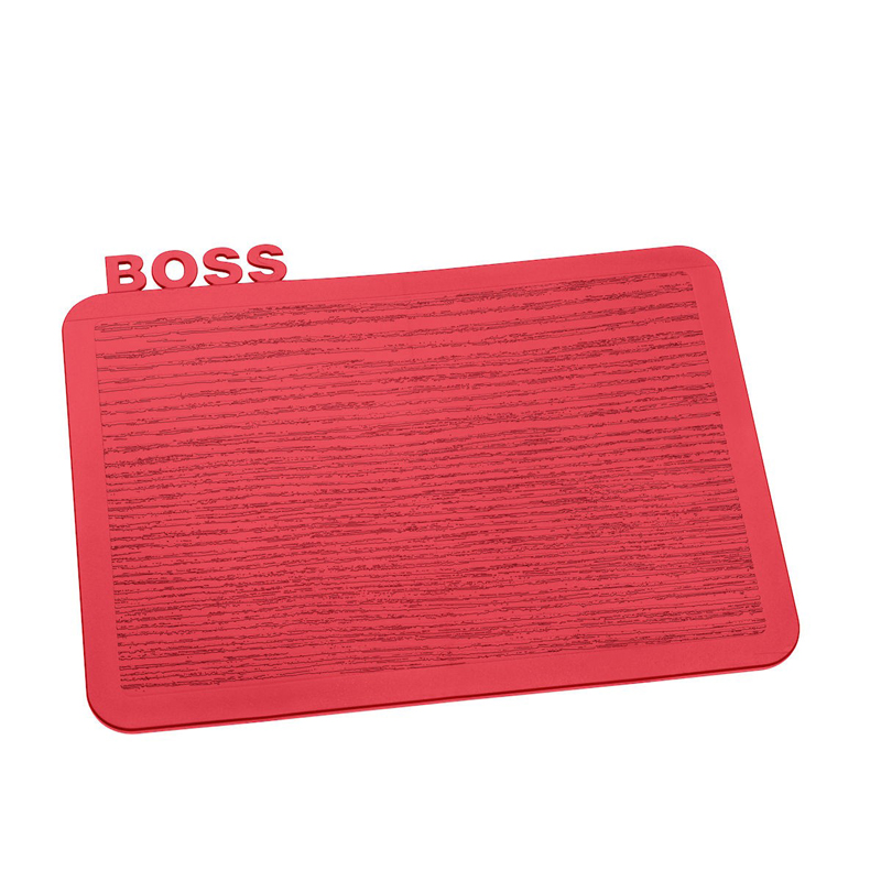 Deska do krojenia plastikowa KOZIOL HAPPY BOARDS BOSS CZERWONA 24,5 x 19 cm