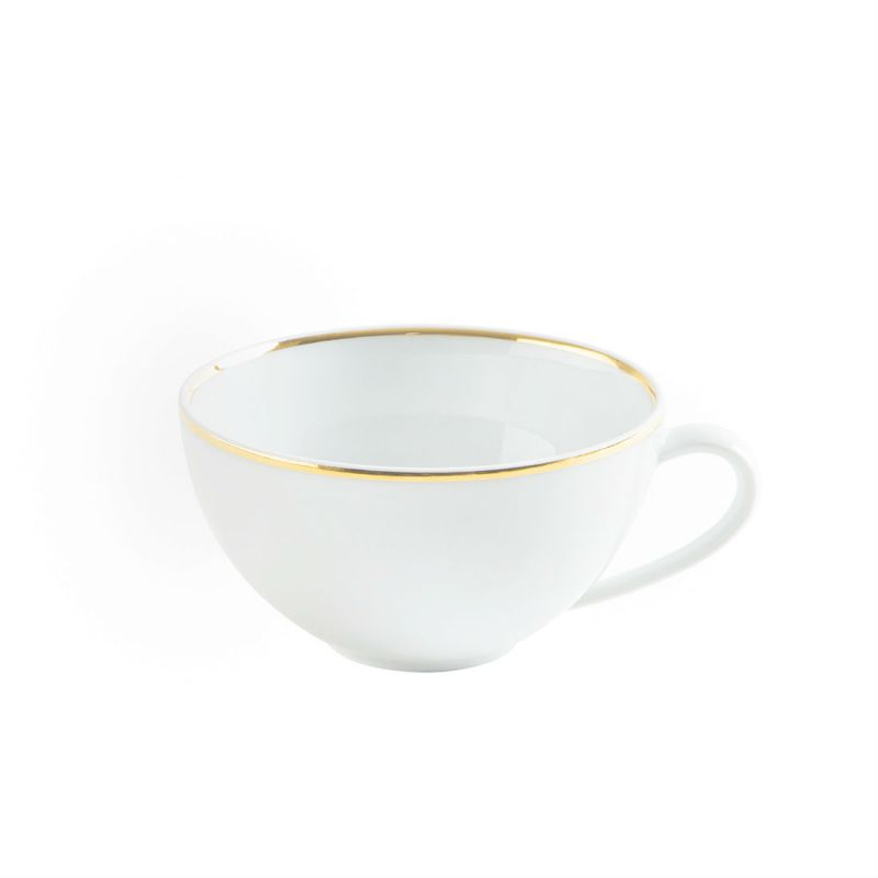 Filiżanka do cappuccino porcelanowa KAHLA MAGIC GRIP DINER LINE OF GOLD BIAŁA 250 ml