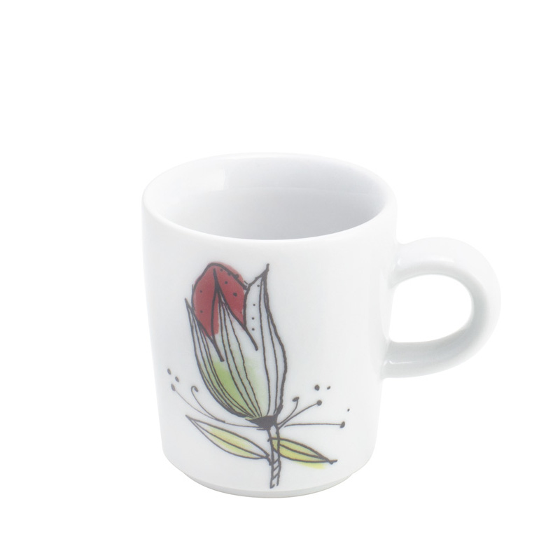 Filiżanka do espresso porcelanowa KAHLA SENSES FLOWER BIAŁA 90 ml