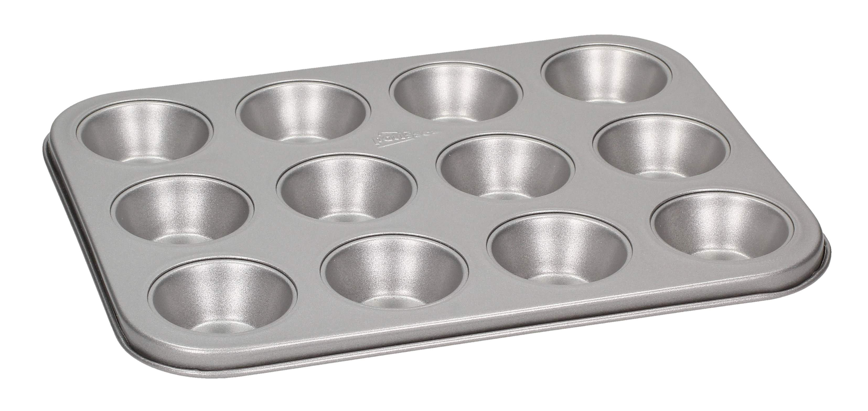 Forma do pieczenia 12 muffinek PATISSE MINI MUFFIN SILVER TOP