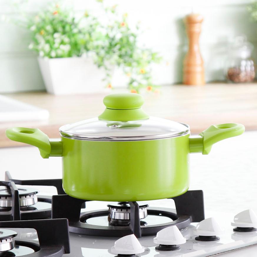 Garnek Z Powłoką Ceramiczną Z Pokrywką Ambition Fusion Fresh Zielony