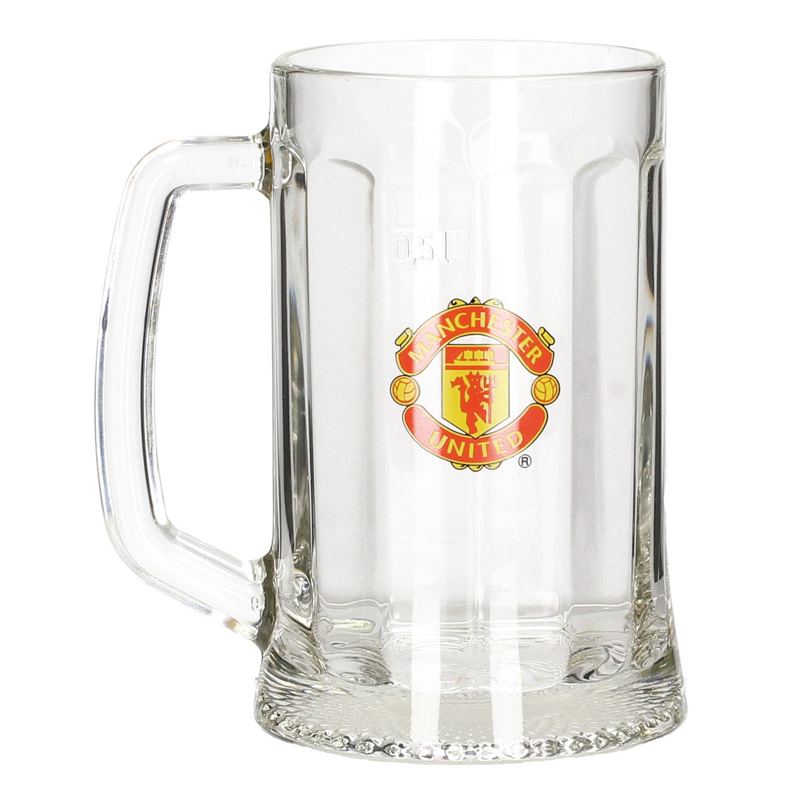 Kufel do piwa szklany MANCHESTER UNITED 500 ml