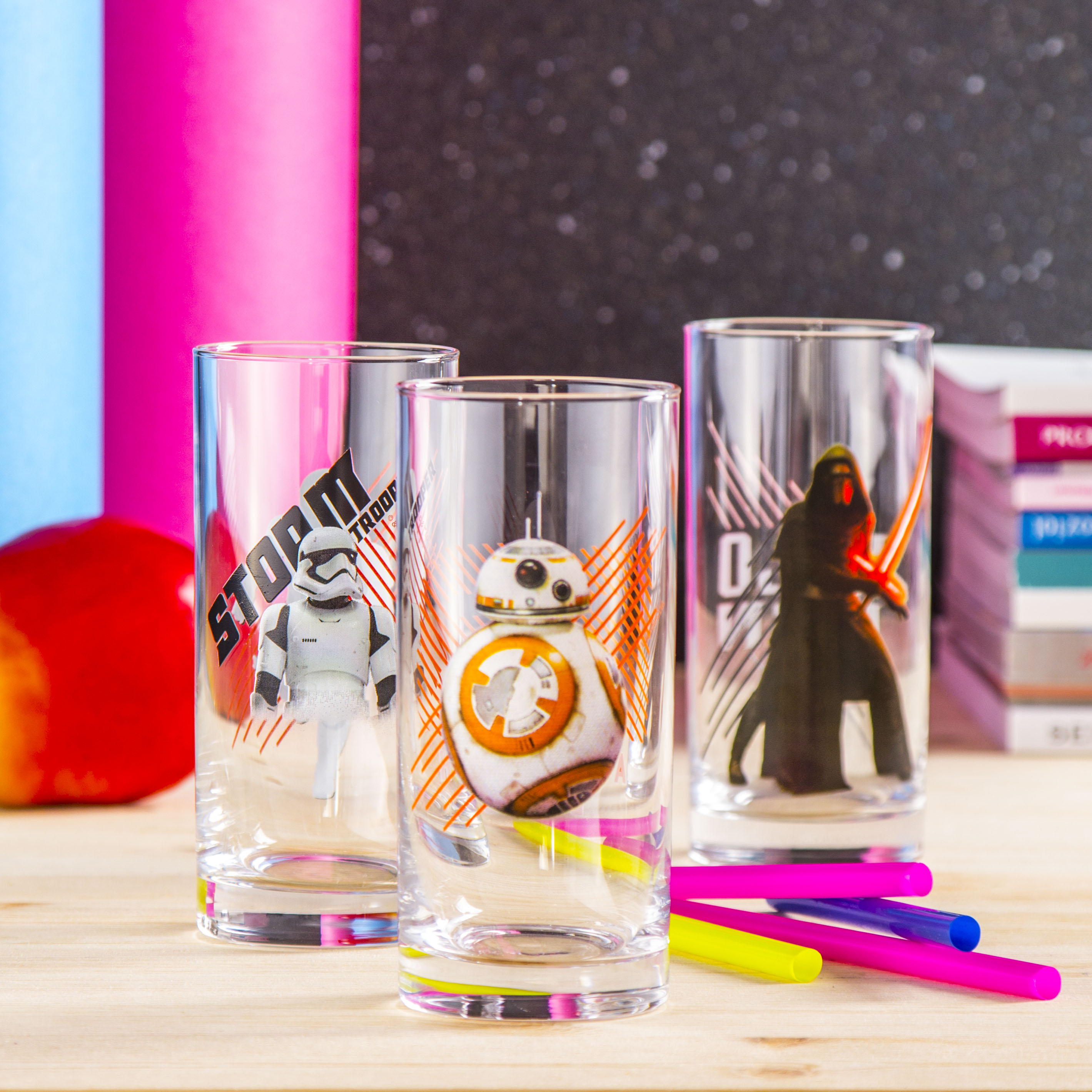 Szklanki do napojów szklane DISNEY STAR WARS SET 290 ml