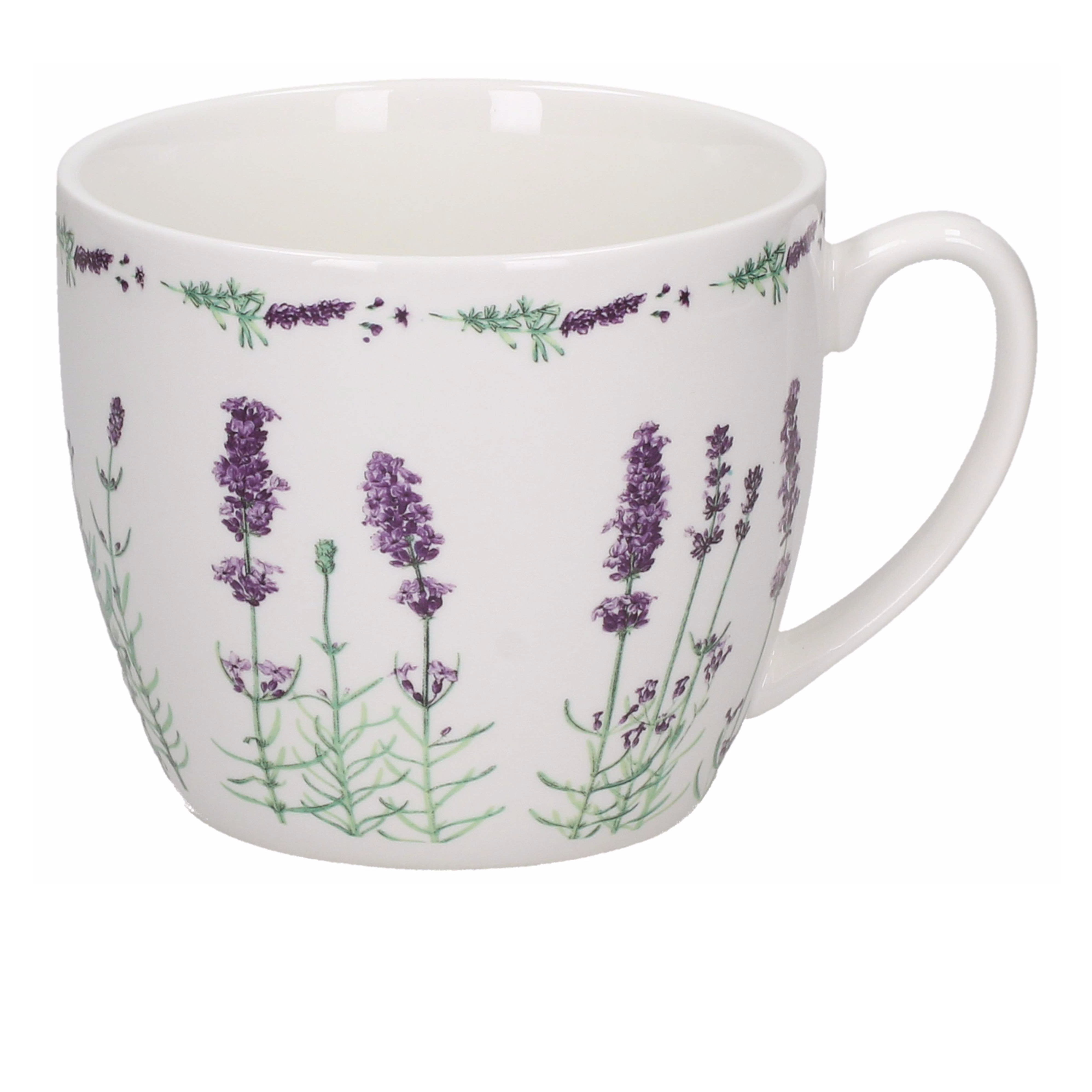 Kubek porcelanowy DUO LAVENDER 700 ml
