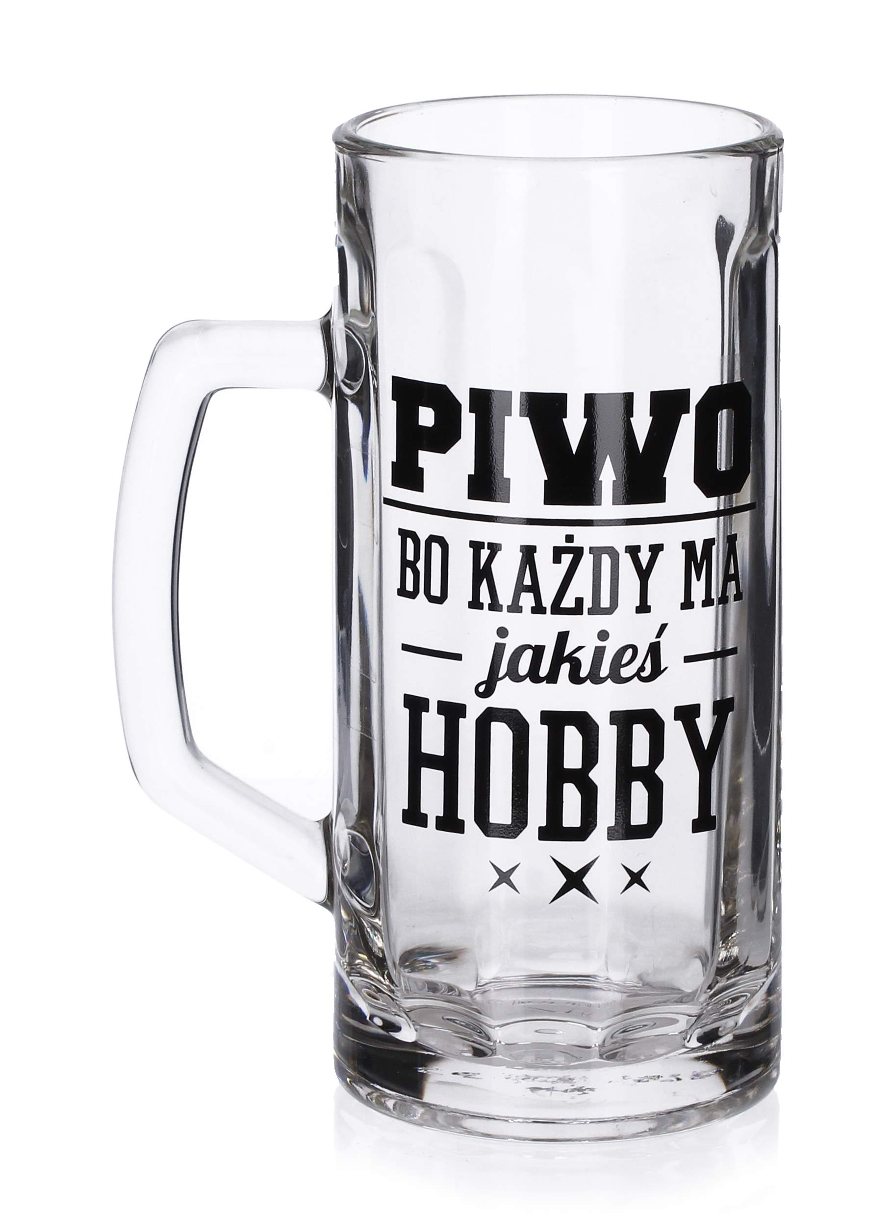 Kufel do piwa szklany FUN HOBBY 600 ml