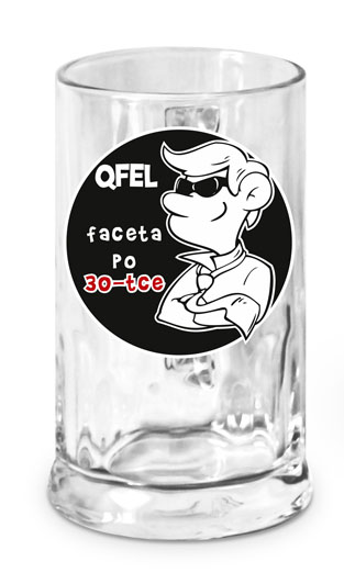 Kufel do piwa szklany QFEL FACETA PO 30-TCE 500 ml