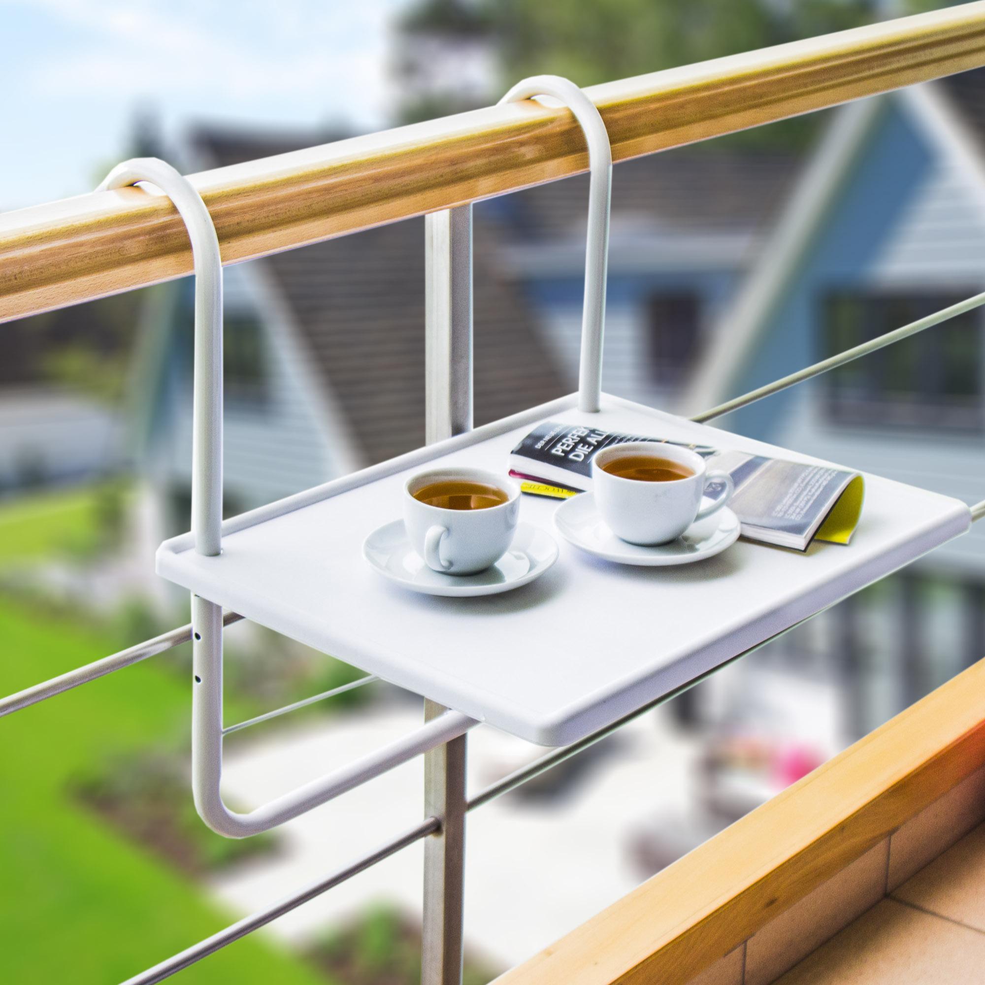 Stolik Na Balkon Podwieszany Plastikowy Ambiance Biały